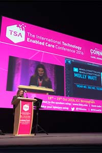 Public speaking by Molly Watt at ITec, Birmingham.