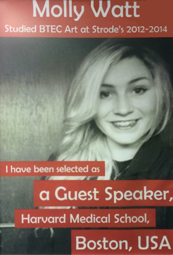 Public speaking by Molly Watt at Harvard university.