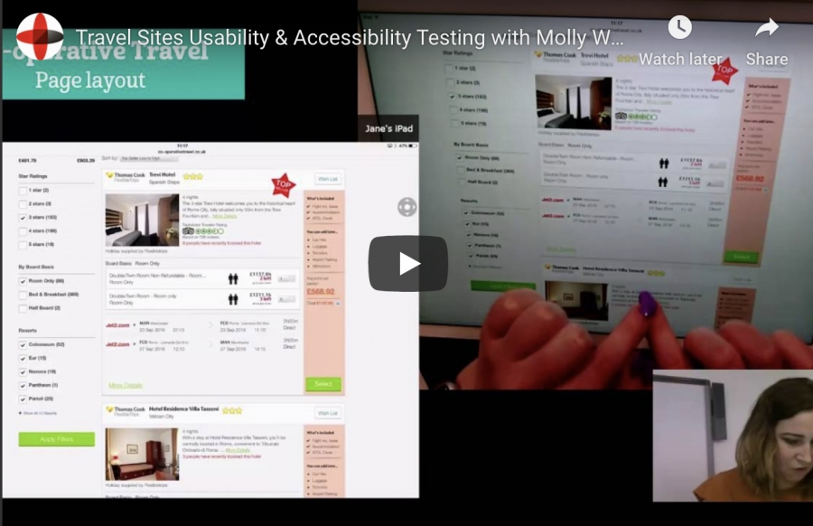 Travel Sites Usability & Accessibility Testing with Molly Watt