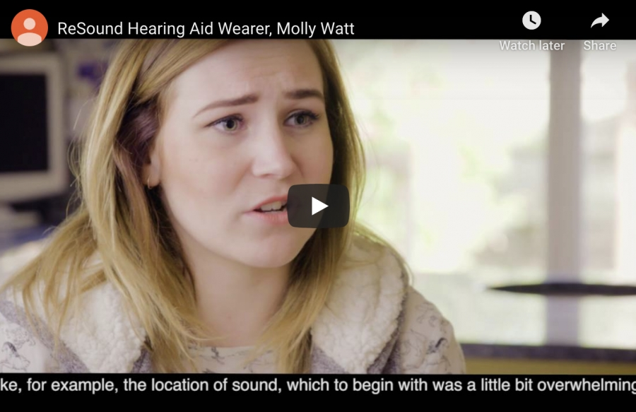 ReSound Hearing Aid Wearer, Molly Watt